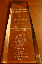 Photo of the WSFA Small Press Award